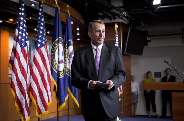 House Speaker John A. Boehner (R-Ohio) remained confident Monday that Republicans would retain control of the lower chamber.