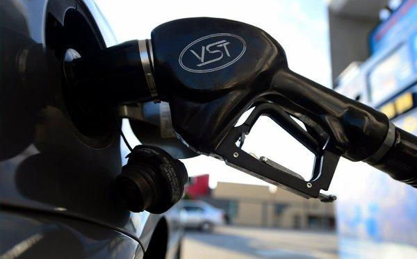 California's average price for a gallon of gasoline has dropped by more than 69 cents since hitting a record of $4.671 on Oct. 9.