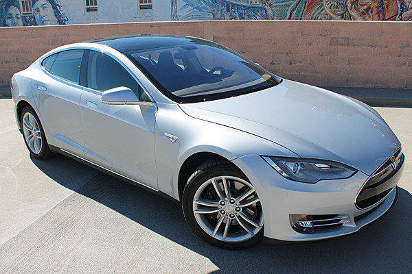 This all-electric Tesla Model S sells for about $81,000 and will do 0-60 mph in 5.6 seconds.
