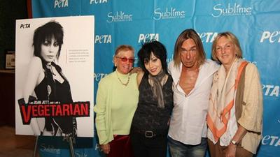 Joan Jett accepts PETA award at Fort Lauderdale's Sublime