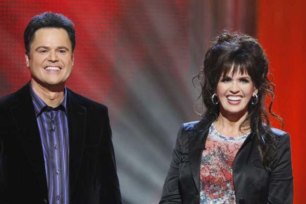 Singer-songwriters and fellow Mormons Donnie and Marie Osmand support Mitt Romney.