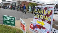 Having just observed dozens of my fellow citizens standing in line for more than an hour to vote, I started to feel good about the country again. Some 430,000 Marylanders took advantage of five days of early voting this year, so many that Sandy Rosenberg, the veteran state delegate from Baltimore, says he'll be filing a bill in the next legislative session to expand the opportunities for early voting.