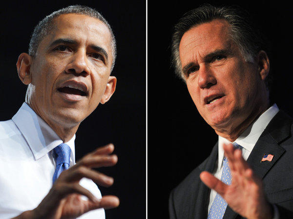 President Obama and Mitt Romney are racing across battleground states.