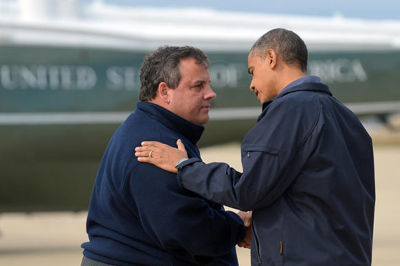 Chris Christie and Barack Obama