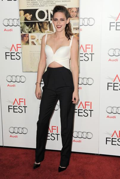 "Kristen Stewart, star of ""The Twilight Saga: Breaking Dawn Part 2,"" arrives at the ""On the Road"" gala screening as part of AFI Fest."
