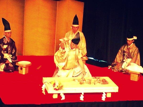 Noto Suzuki performs the Japanese Shijo knife ceremony.