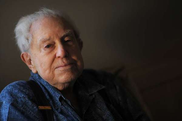Composer Elliott Carter, shown at his New York home in 2008.