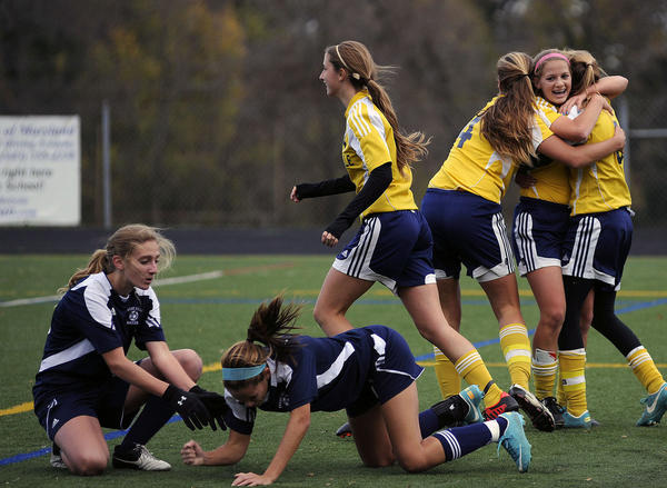 Three days after Catonsville celebrated the first goal in a 2-0 victory over Perry Hall in the regional semifinals, the Comets lost to Sherwood on penalty kicks in the Class 4A North Region title game.