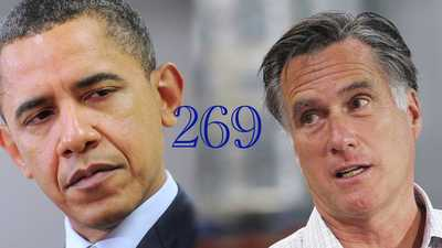 A Presidential Tie: If They Each Get 269....