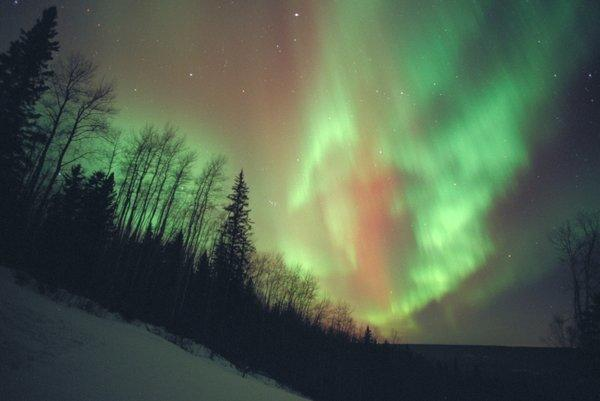 Fort McMurray, Canada, about 630 miles north of Jasper, is an ideal place from which to view the northern lights.