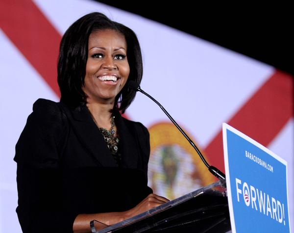 Scenes from First Lady Michelle Obama's last rally speech of the 2012 campaign, at Southport Community Park, in Orlando, Fla., Monday night, November 5, 2012.