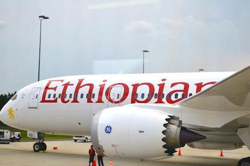 Ethiopian Airlines began flying the Dreamliner in August. It is the first airline outside of Japan to take delivery of the 787. Its Dreamliner is equipped to seat 270 passengers.