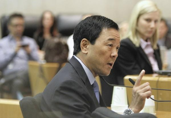 Retired Sheriff's Chief Ronnie Williams said Los Angeles County Undersheriff Paul Tanaka, above, and former undersheriff Larry Waldie ordered him to manipulate the test scores of candidates for promotions.