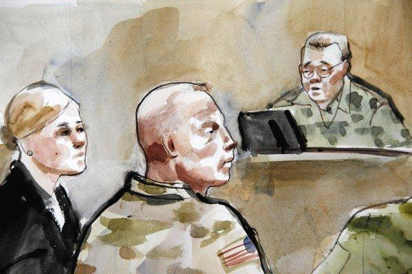 A courtroom sketch depicts U.S. Army Staff Sgt. Robert Bales, center, during an Article 32 hearing in a military courtroom at Joint Base Lewis-McChord in Washington state. Bales is accused of carrying out a massacre that left 16 Afghan civilians dead.