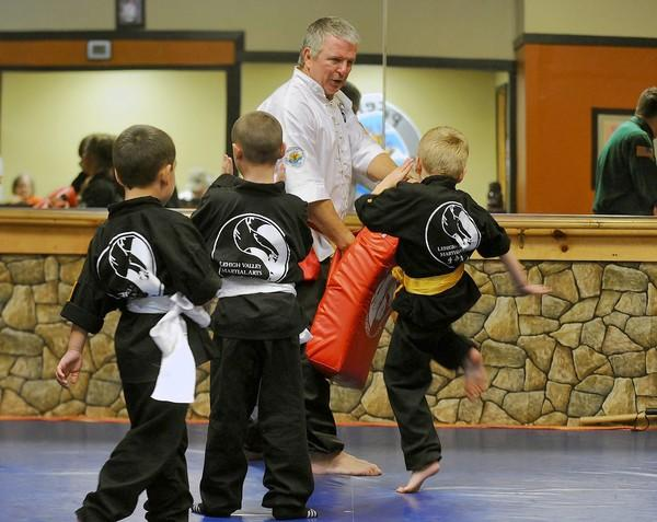 Paul Miller instructs a class at Lehigh Valley Martial Arts in Emmaus.
