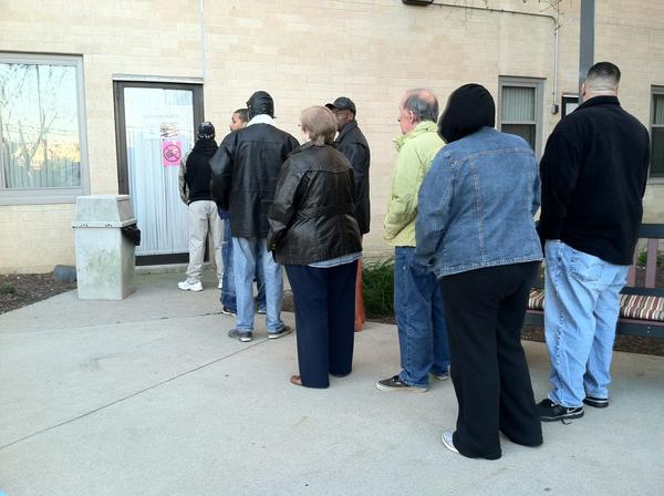 B'nai B'rith House on Liberty Street in Allentown as the polls opened Tuesday morning.