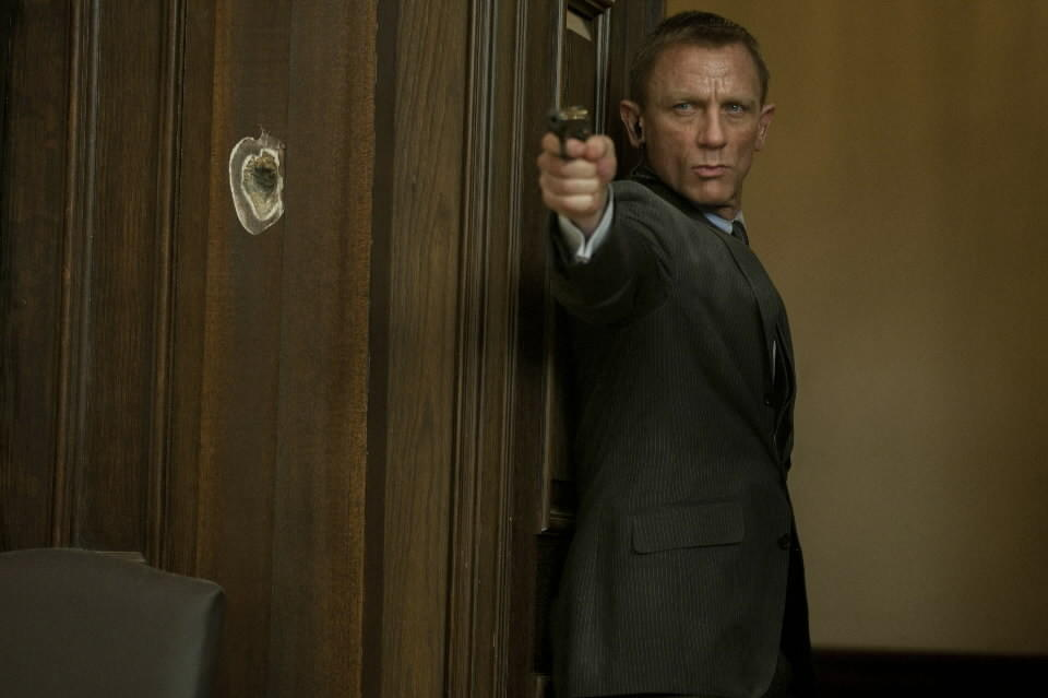 "Daniel Craig plays James Bond in ""Skyfall."""