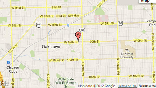 House burning in Oak Lawn