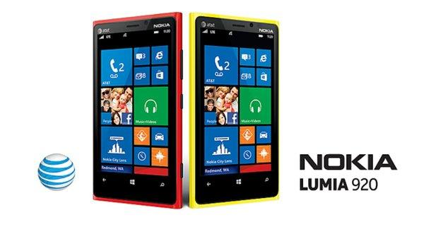 AT&T has announced it will carry the Nokia Lumia 920 for $99 on a new two-year contract.
