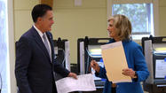 Mitt and Ann Romney vote