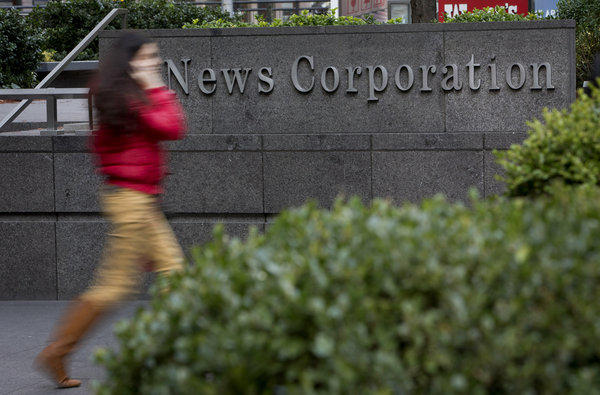 New York-based media company News Corp. reported net income of $2.23 billion.
