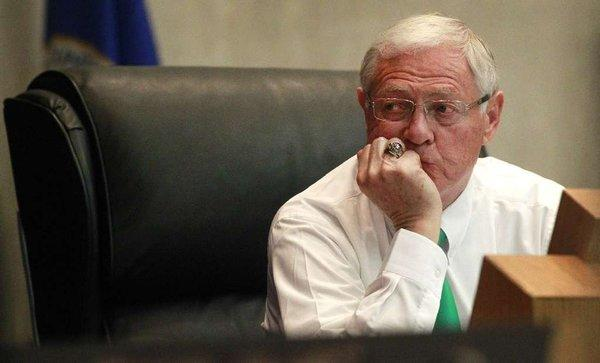 "L.A. County Supervisor Michael D. Antonovich complained in July that a mail-only ballot on parcel taxes was a ""sneak attack."""