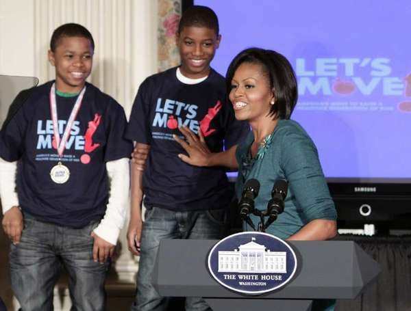 "2012 Election results: In a Halloween experiment directing trick-or-treaters to ""vote"" for President Barack Obama or Mitt Romney, First Lady Michelle Obama and her Let's Move campaign to fight childhood obesity emerged as the clear winners."