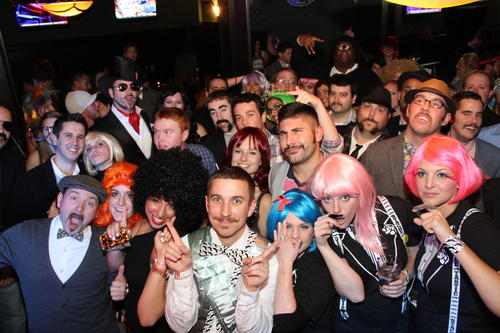 The fifth annual Mustachio Bashio held at The Russian Lady, 191 Ann Uccello St. in Hartford, Monday night.