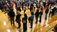 Long lines of voters in Laurel on Election Day