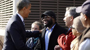 Election Day in Obama's neighborhood: Reporters, security and basketball