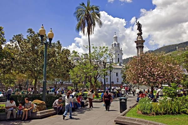Independence Square is in the heart of Old Quito.