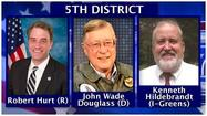 Congressman Robert Hurt has been voted into a second term in the 5<sup>th</sup> Congressional District.