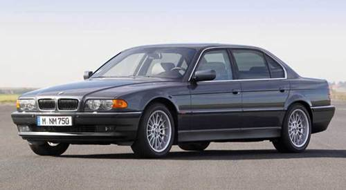 "When new, the 322-horsepower V-12-powered 1997 BMW 750 iL cost $95,570 with destination charge and gas guzzler tax. In ""Tomorrow Never Dies,"" the 750 iL was piloted by Bond via cellphone in the backseat, and the car wore rockets, machine guns and deployable metal spikes. What's that app called again? There's only one 1997 BMW 750 iL in Cars.com's national inventory, priced at $7,499. Kelly Blue Book estimates the retail value of a 1997 750 iL at $6,454 with an average 155,000 miles."