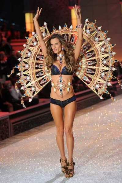 Model Alessandra Ambrosio in last year's Victoria's Secret fashion show.