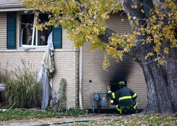 Authorities believe the fire started about 8:50 a.m. Tuesday in the basement of the home, Oak Lawn police said.
