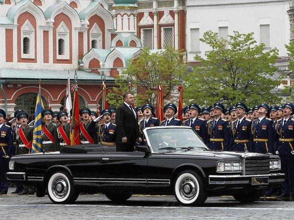 Russian Defense Minister Anatoly Serdyukov attends a Victory Day parade in Moscow in May. He was replaced by Sergei Shoigu, governor of the Moscow region.