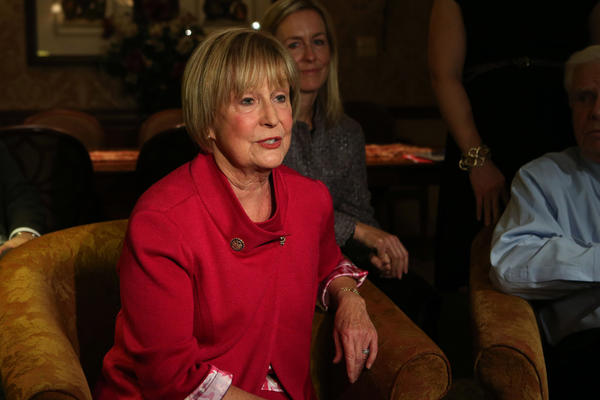 Congressman Judy Biggert speaks with reporters at her campaign night headquarters in Lisle, Ill.