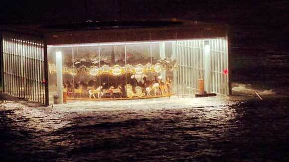 The post-Sandy photo of Jane's Carousel seemingly floating inside an enclosed pavilion became an Internet sensation after Ana Andjelic posted the image to her Instagram account.