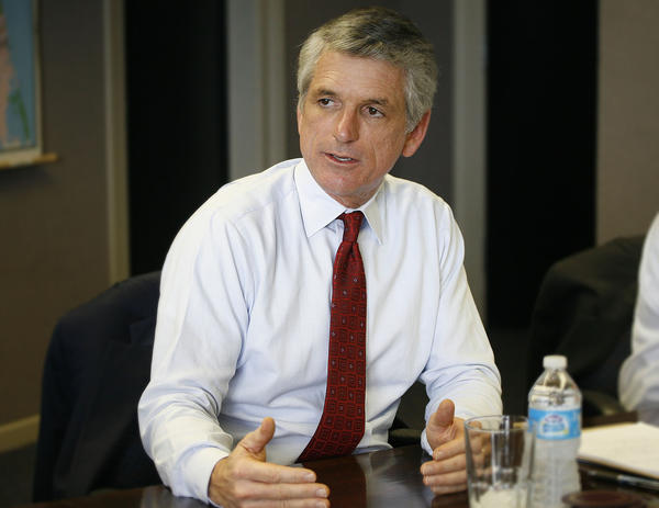 United States Representative Scott Rigell, (second district Virginia, republican) on October 4, 2012 in the Daily Press' boardroom for a candidate interview.