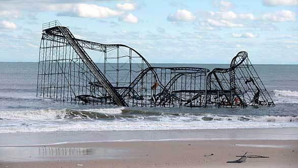 The Casino Pier roller coaster in Seaside Heights, N.J.