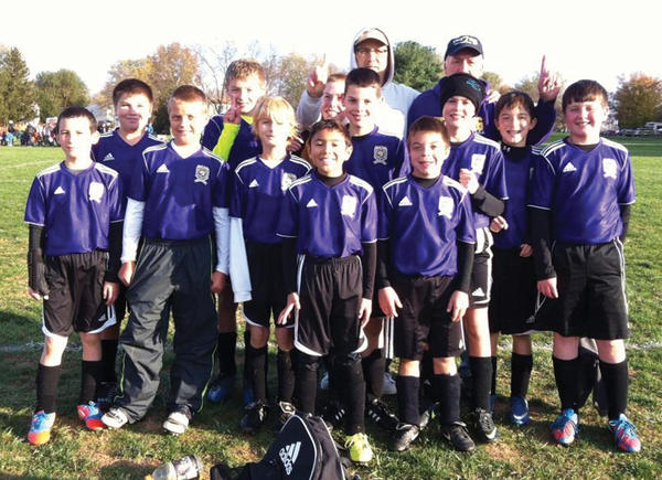 The Smithsburg Leopards won the 2012 FCYSL U12 Fall Tournament championship. From left to right: Front row -- Gabe Vidal, Logan Shank, Eli Knodle, Alex Wandalowski and Shane Hovermale. Second row -- Joe Fouke, Alex Bausman, Jack Moran, Mack Berry, Nick Newcomer, Sonoma Ferguson and Daniel Walter. Third row -- coach Byron Ferguson and coach Enrique Vidal. Not pictured -- Clayton Stottlemyer and coach Henry Vidal.