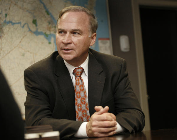 Representative Randy Forbes during a candidate interview in the Daily Press board room on September 27, 2012