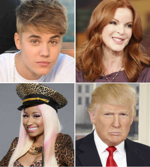 Election 2012: Justin Bieber, Donald Trump, Lady Gaga and more celeb reactions: Celebs took to twitter to pump for their preferred candidate, talk about the issues or just urge their fans to vote. Find out who was partisan, who was civic-minded, and who admitted to not voting -- although he had a good reason.