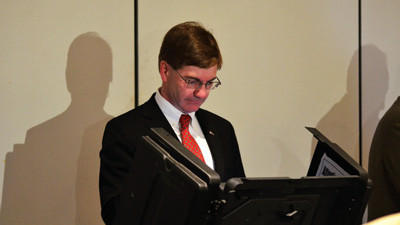 Republican congressional candidate Keith Rothfus votes Tuesday at the St. Stephens Church in Sewickley.