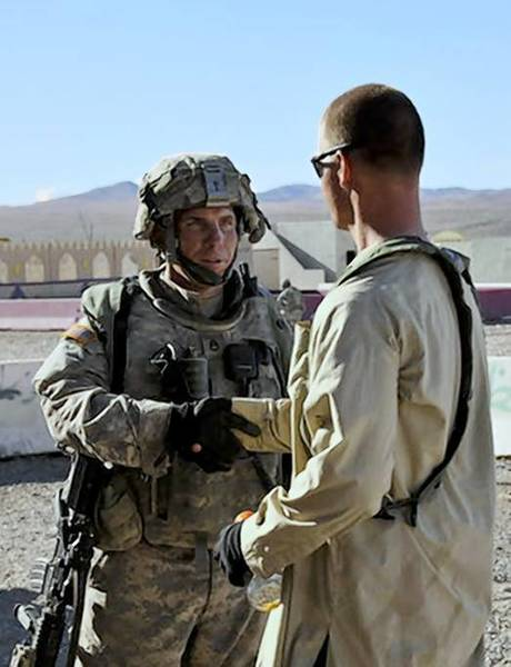 Army Staff Sgt. Robert Bales, left, is shown at Ft. Irwin in 2011.