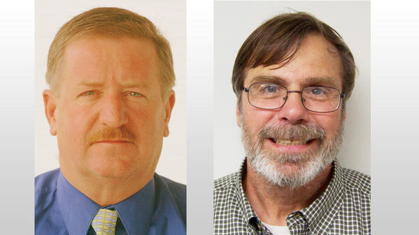 Richard Gillespie (left) and Larry Sullivan were both elected to serve on the Charlevoix County Board of Commissioners during the general election Tuesday.