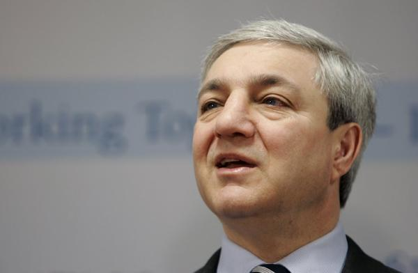 In this March 7, 2007 file photo, Penn State University President Graham Spanier speaks during a news conference.