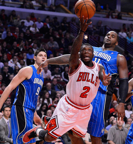 Bulls point guard Nate Robinson shoots the ball during the second half of the Bulls vs. Magic game at the United Center on Nov. 6.