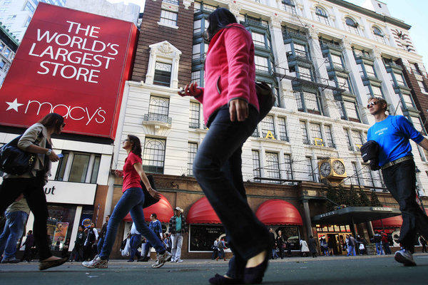 Macy's reported strong third-quarter numbers; profit was up 4.3% from the same period a year ago, and sales rose 3.8%.