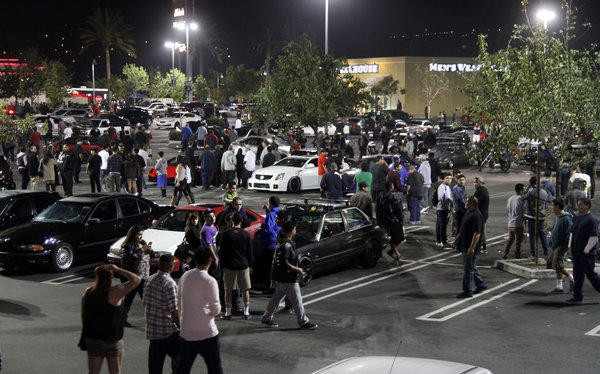 "Police will beef up their presence at the Empire Center Tuesday, as car enthusiasts are expected to flood the parking lot for the ""Krispy Kreme"" car meet, which has in the past attracted hundreds of people and their custom cars via social media."
